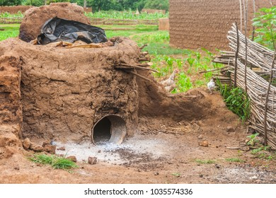 Traditional oven used to produce shea butter, Burkina Faso, West Africa.