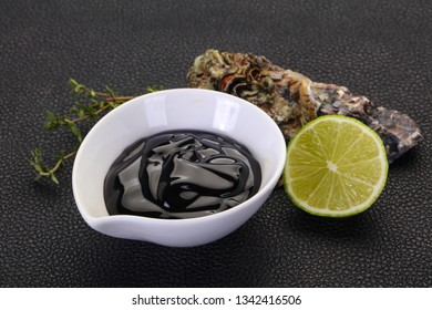 Traditional Oyster sauce in the bowl