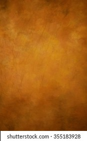 Traditional painted canvas or muslin fabric cloth studio backdrop or background, suitable for use with portraits, products and concepts. Shades of ecru / yellow / brown /orange.