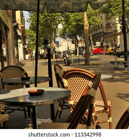 Traditional Parisian cafe