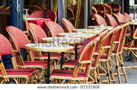traditional Parisian street cafe