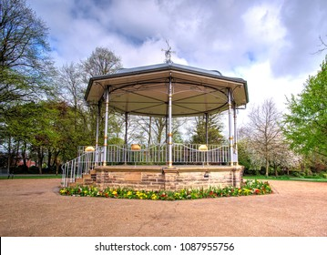 Traditional park bandstand background