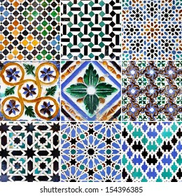 Traditional patterns of Andalusia (about 15-th century)