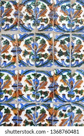 Traditional patterns of an andalusian Azulejo. Seville, Spain