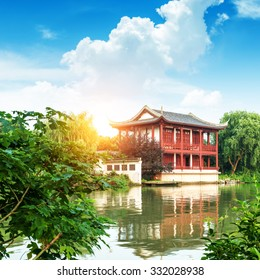 Traditional pavilions in Yuyuan Gardens, Shanghai, China