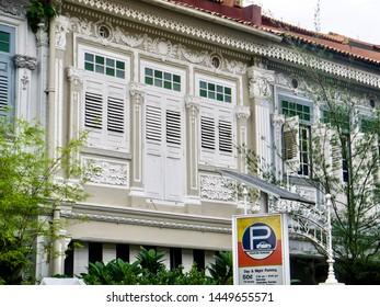 Traditional Peranakan Baba Nyonya architecture in Singapore