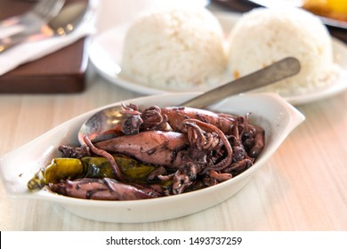 Traditional Philippines food-Adobong Pusit, Philippines