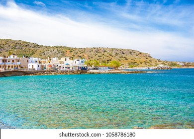 Traditional pictorial coastal fishing village of Milatos, Crete, Greece.