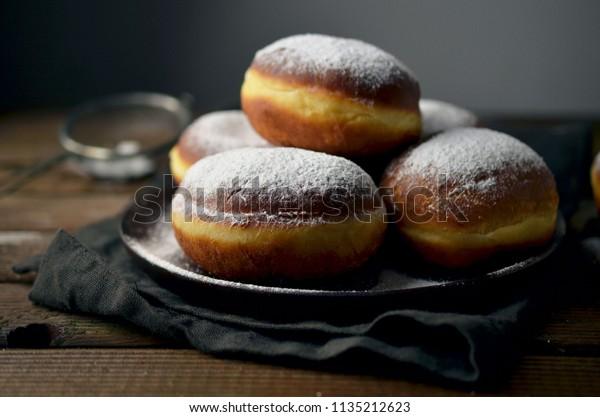 Traditional polish donuts