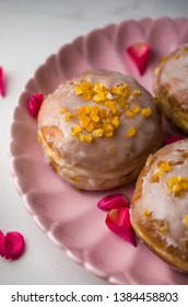 Traditional polish donuts with icing