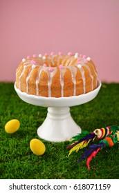 Traditional Polish Easter babka cake
