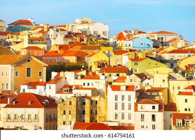 Traditional Portugal architecture in the Old Town of Lisbon