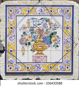 Traditional Portugal hand painted tiles
