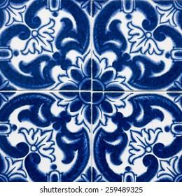 Traditional portuguese tile, azulejo
