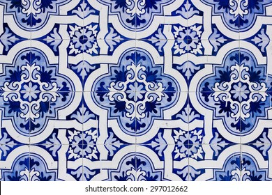 Traditional portuguese tile. Azulejo