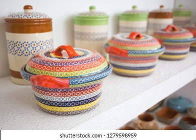Traditional pottery art in the Michoacan state, Mexico.