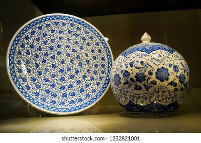 Traditional pottery in Kutahya, Turkey.