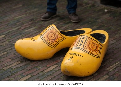 Traditional process of making Dutch clogs in Zaanse Schans