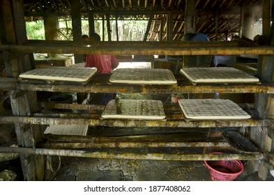 traditional process of making tofu
