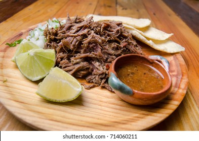 Traditional pulled lamb mexican barbacoa