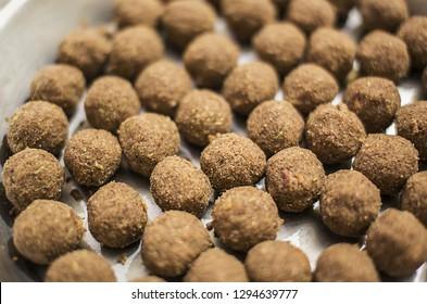 traditional punjabi pinni or flax seed pinni