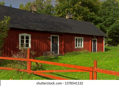 Traditional Red Farmhouse in Småland, Sweden.