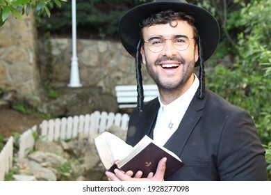 Traditional religious orthodox man in the synagogue