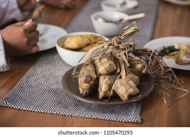 traditional rice cake during eid mubarak celebration