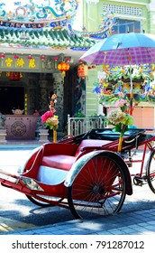 Traditional Rickshaw in the Old Town - December 2017 - George Town, Penang, Malaysia