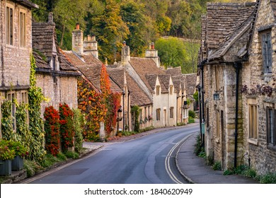 Traditional rural homes  Cotswold village of Castle Combe, united kingdom