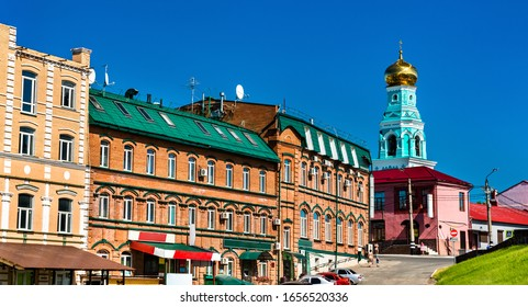 Traditional Russian architecture in the old town of Syzran, Samara Region of Russia