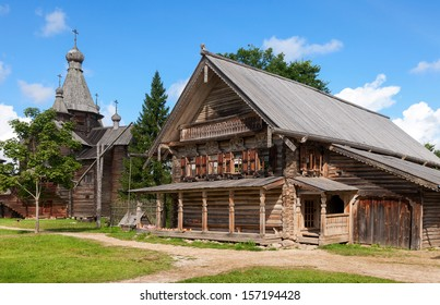 Traditional Russian Old Wooden house