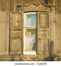 traditional russian window from Engels