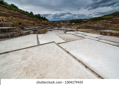 Traditional salt minery in Salinas de Añana, Alava