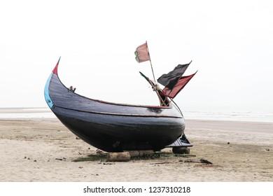 Traditional sampan boat, Cox's Bazar, Bangladesh.