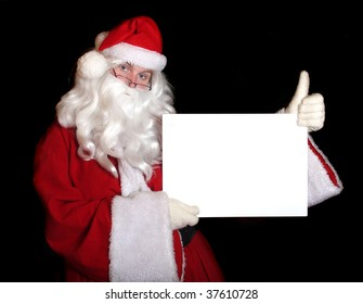 Traditional Santa Claus with schedule