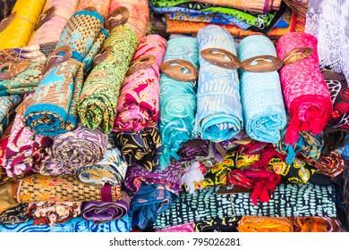Traditional Sarongs at a Market at Bali, Indonesia