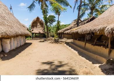 Traditional Sasak village on Lombok, Indonesia.