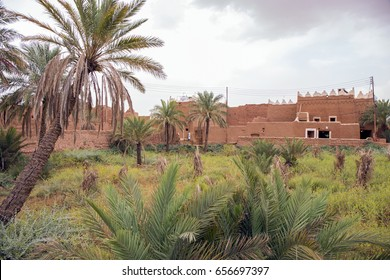 Traditional Saudi mud buildings typical of those found in Saudi Heritage Villages