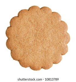 traditional scandinavian thin ginger biscuit, isolated (usually accompany mulled wine