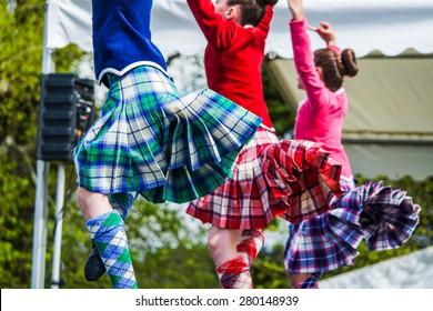 Traditional scottish Highland dancing
