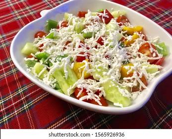 Traditional Serbian salad - Shopska Salad , Sopska salata