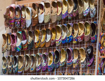 Traditional shoes at Mutrah Souq, in Muscat, Oman