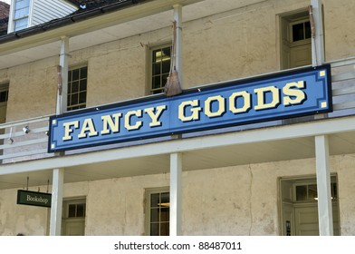 A traditional sign in Harpers Ferry, West Virginia