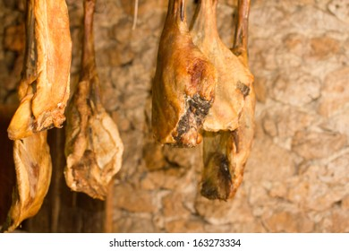 Traditional smoked ham from Herzegovina