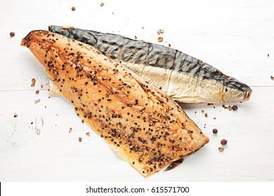 Traditional smoked mackerel