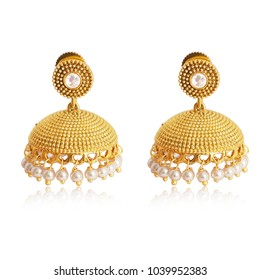 Traditional south Indian earrings Jhumka for festive occasion