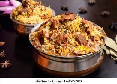 Traditional South Indian Mutton Biryani