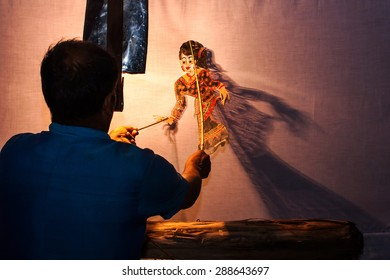 Traditional south of Thailand Shadow Puppet Show,Nakhon Si Thammarat