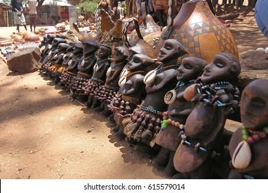 606893e3 Traditional souvenirs of Hamer tribe, Omo Valley, Ethiopia.